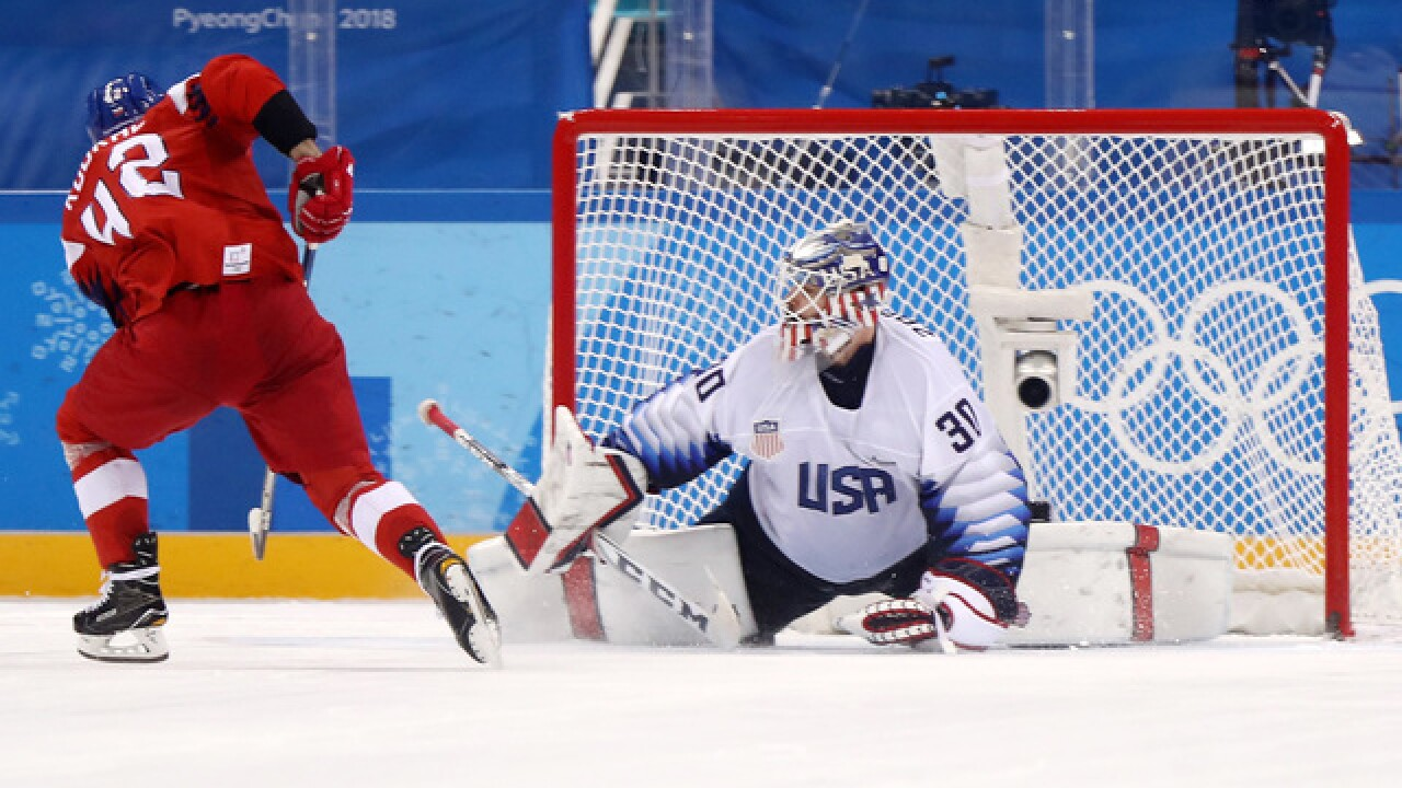 OLYMPICS: Czechs eliminate US in shootout in Olympic quarterfinals