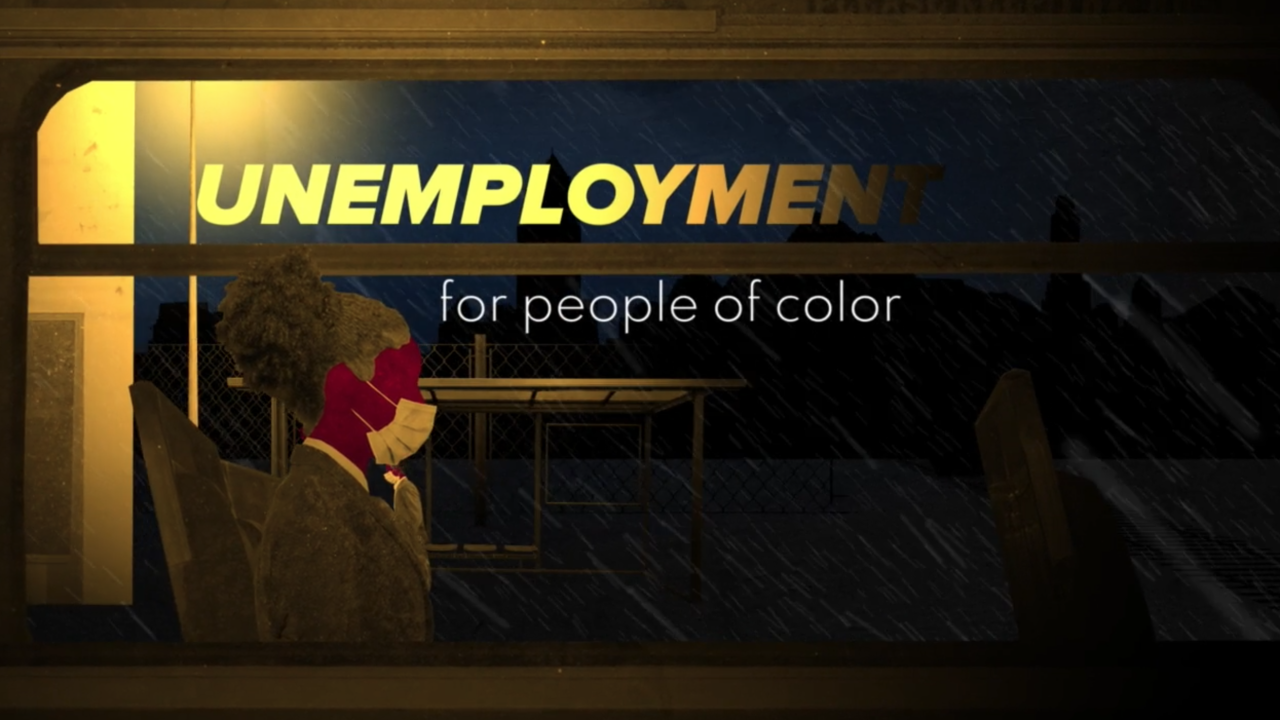 Animation explains what unemployment looks like for people of color during the pandemic
