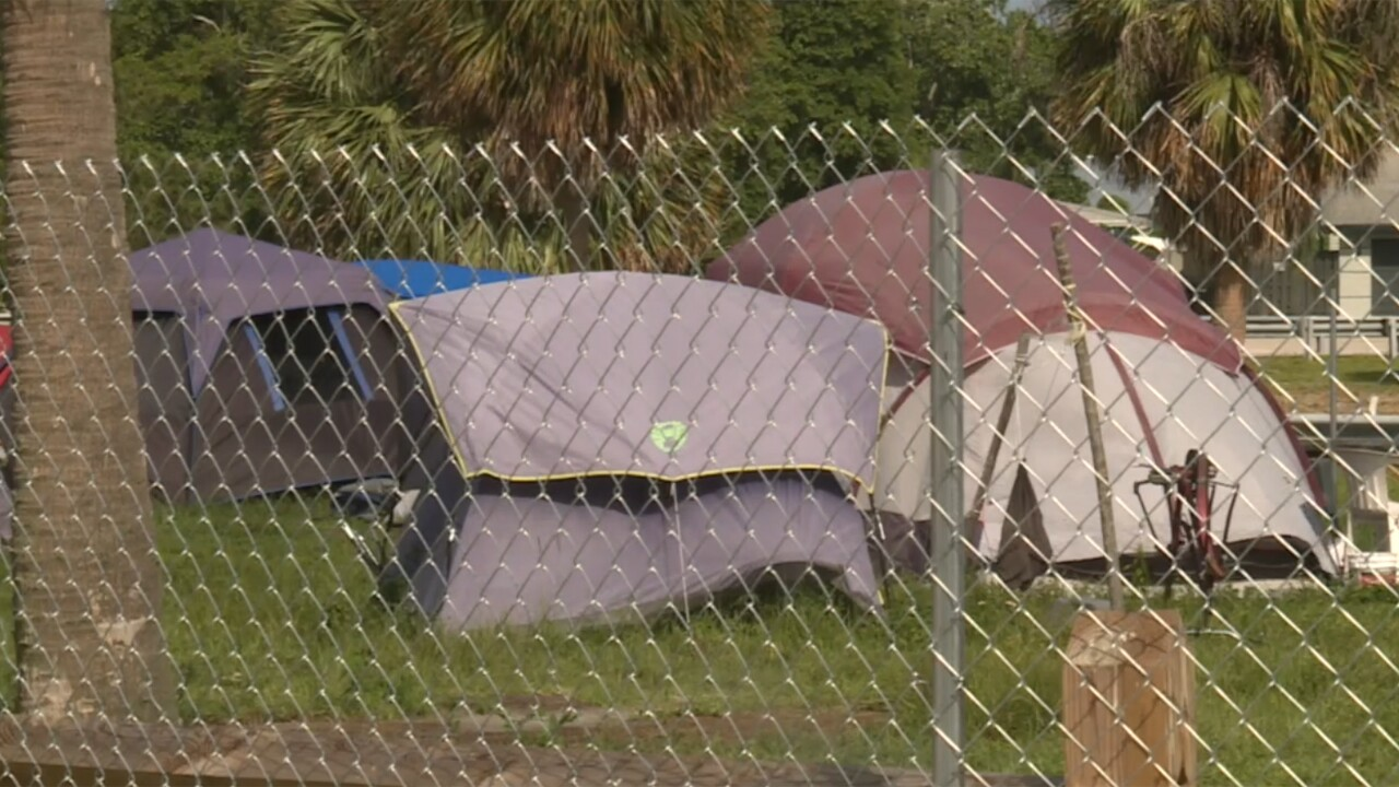 There are questions over the latest addition to John Prince Park. Chain-link fencing now surrounds the long time homeless encampment. But is it an issue of safety or is it sending a different message?