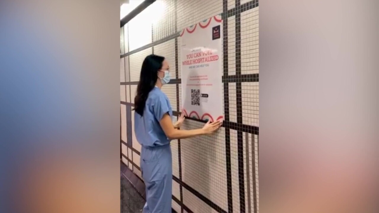 Group of nonpartisan medical professionals volunteering time to help patients vote