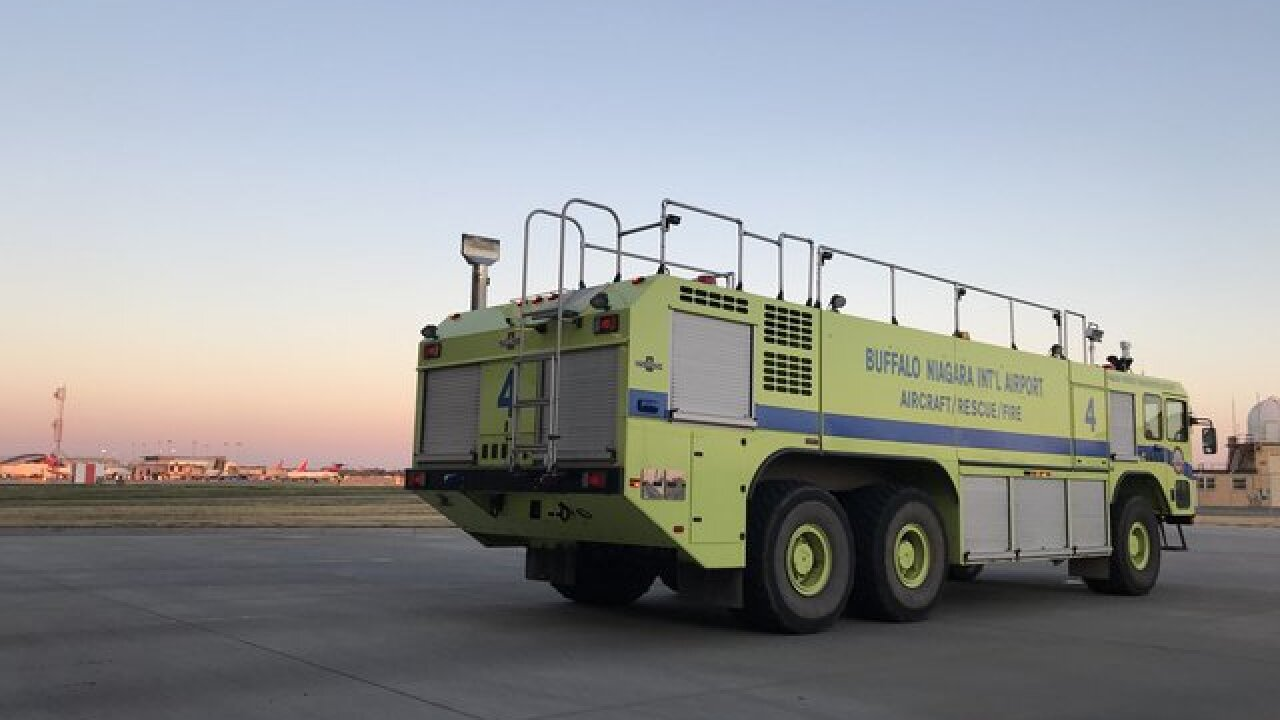 On the road: Airport rescue fire fighters