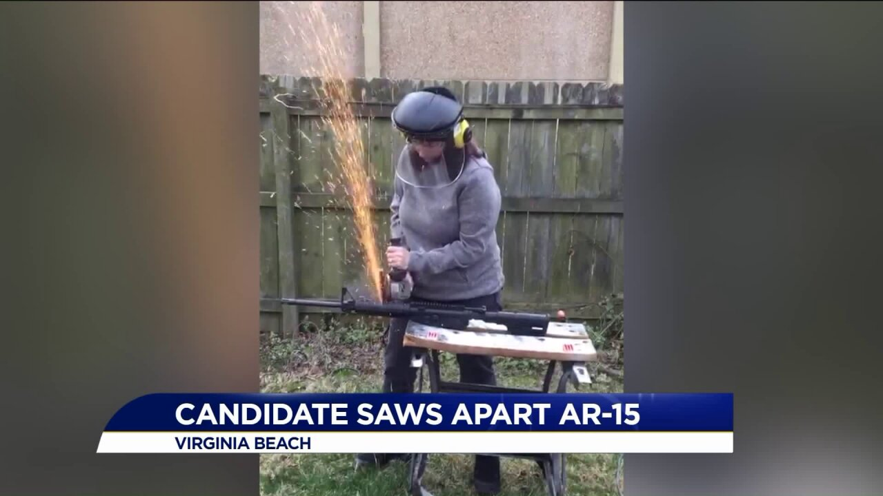 """""""I knew exactly what I was doing."""" Congressional candidate saws AR-15apart"""