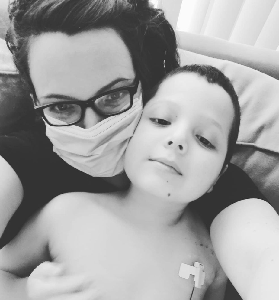 Meghan and Desmond battling through chemotherapy at Roswell Park