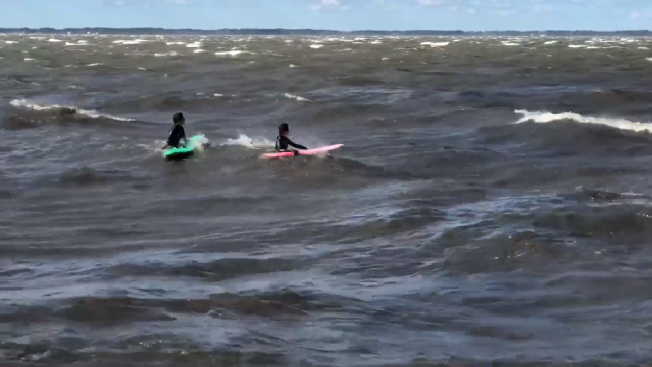 Kitty Hawk kids brave the wind and take to thewaters
