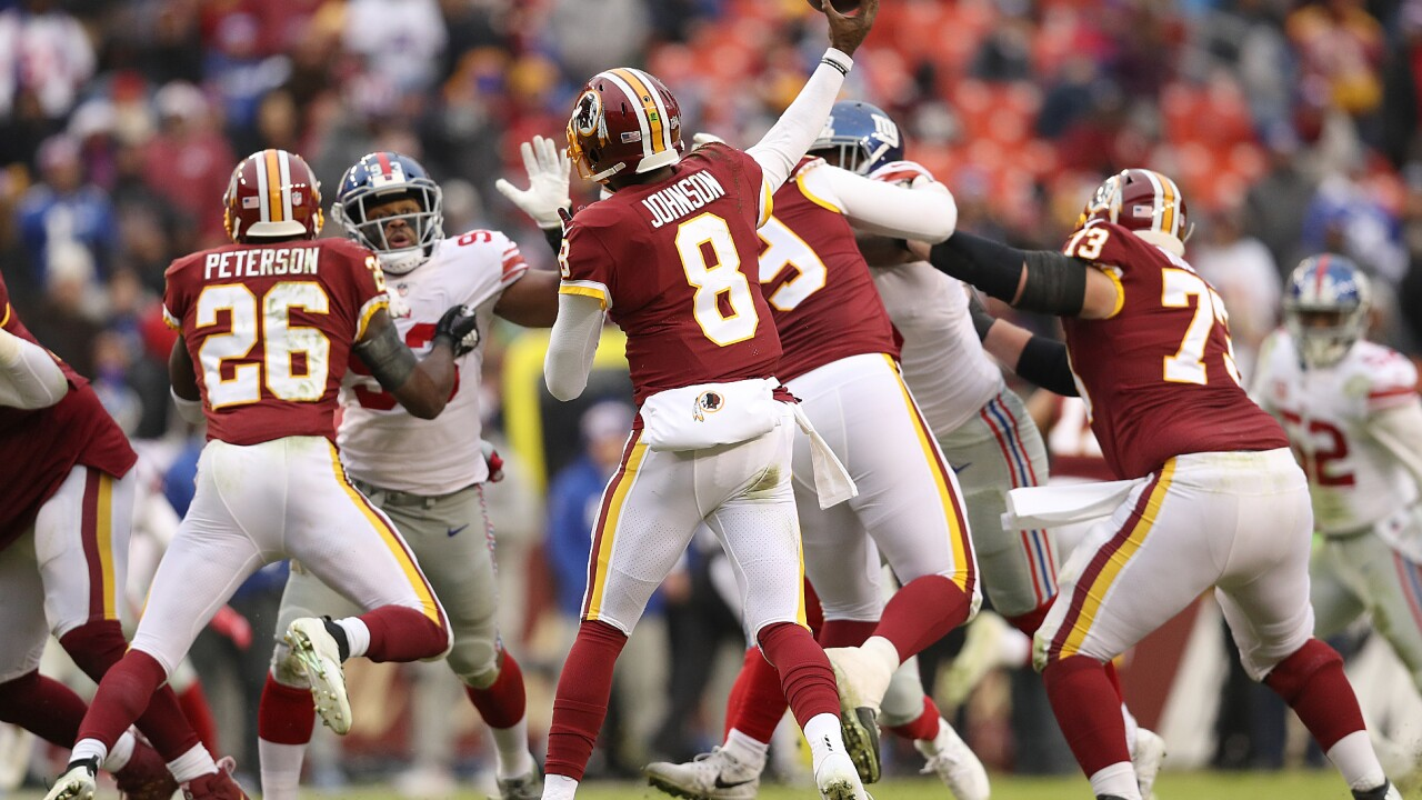 'Skins scoop: Redskins to start Josh Johnson at quarterback Sunday vs. Jaguars