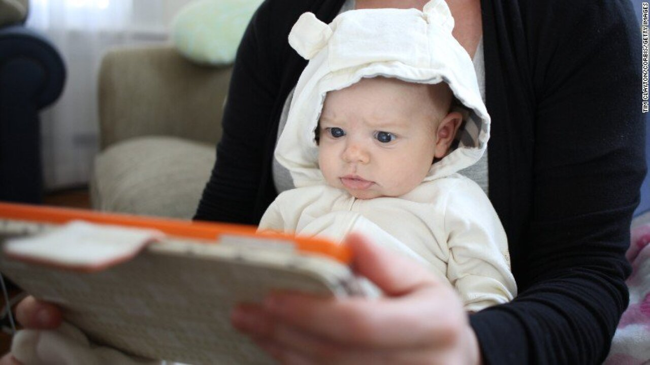 Letting a baby play on an iPad might lead to speech delays, study says