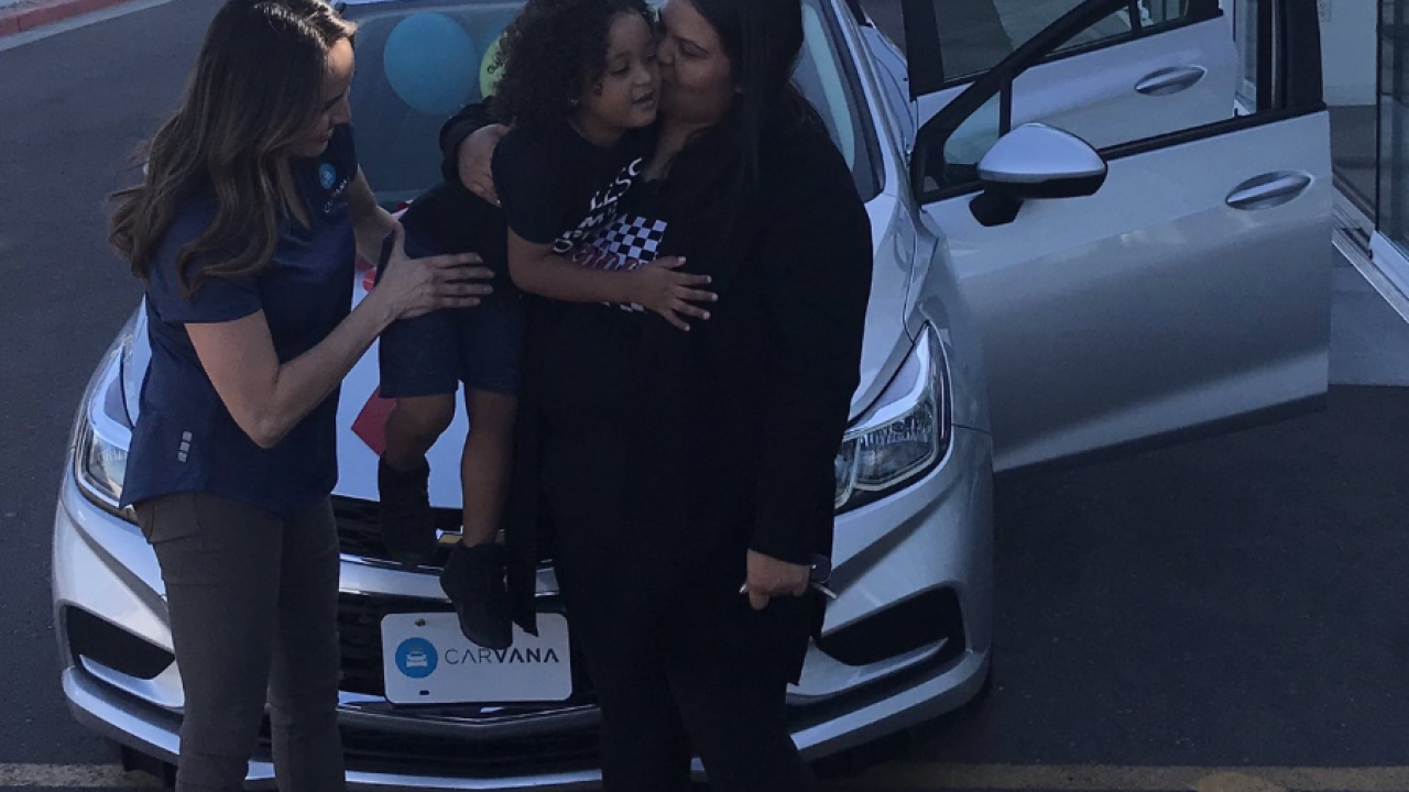 Carvana gives Shannon Vivar a new car