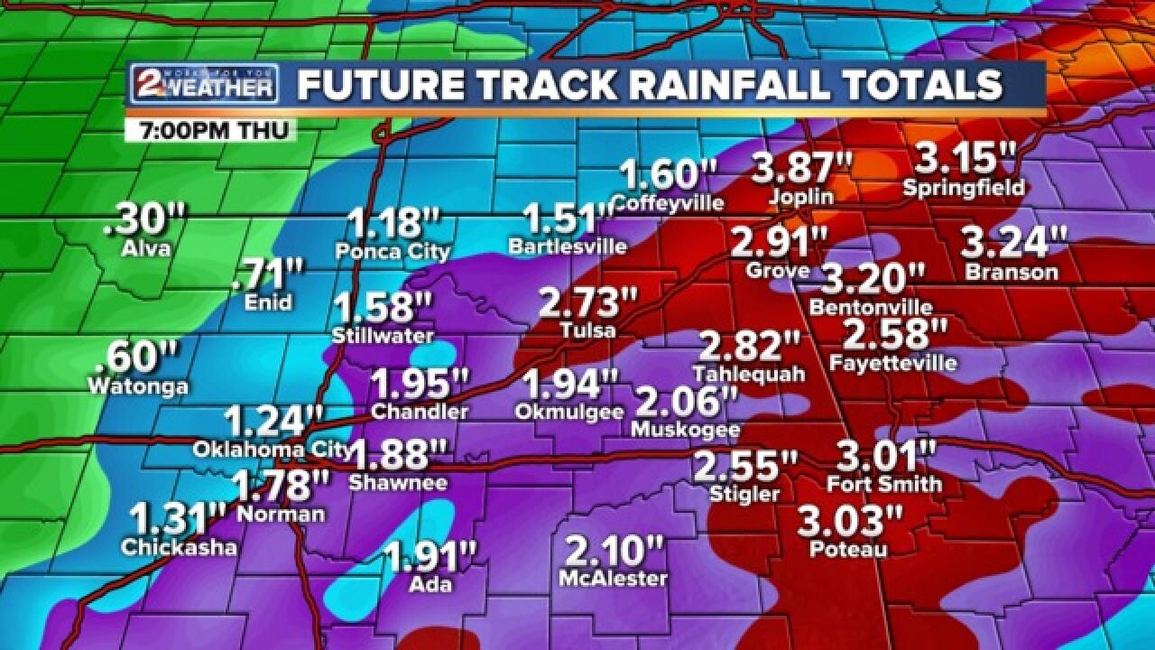 BLOG: A lot of rain plus severe weather chances