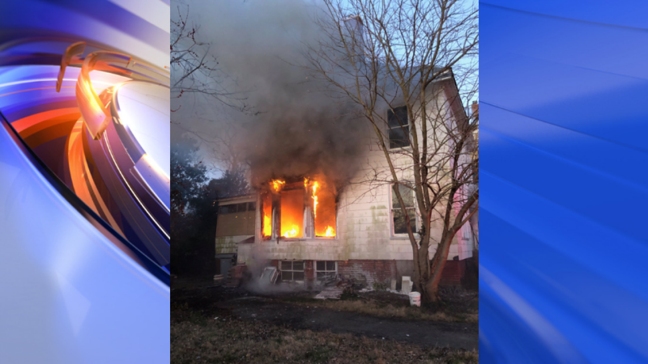 Hampton firefighters respond to blazing housefire