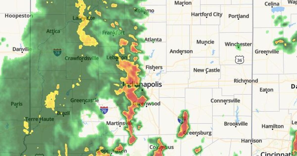 Indianapolis, Indiana Radar Maps | RTV6 | theindychannel com