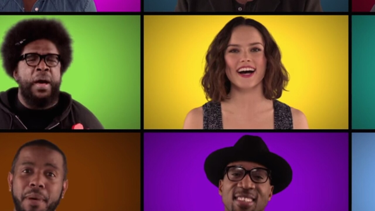 Star Wars actors sing acapella theme song medley