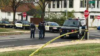 The scene of the homicide Tuesday.