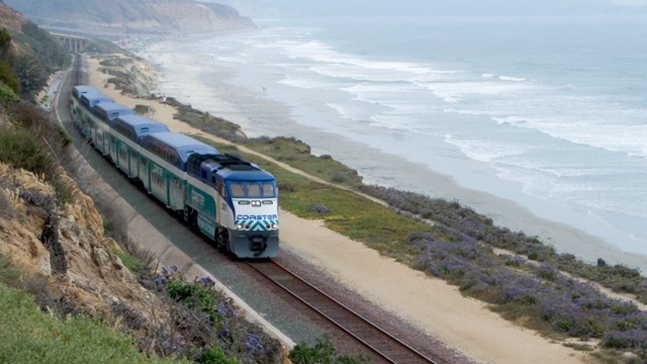 Coaster, Amtrak service in San Diego County halted this weekend