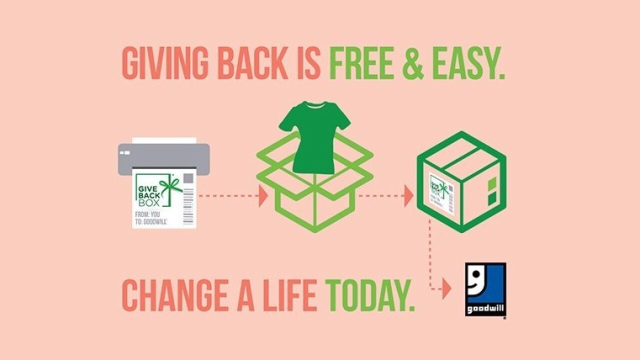 Ship donated goods to Goodwill for free using your Amazon boxes