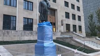 KCPD memorial vandalized.jpg