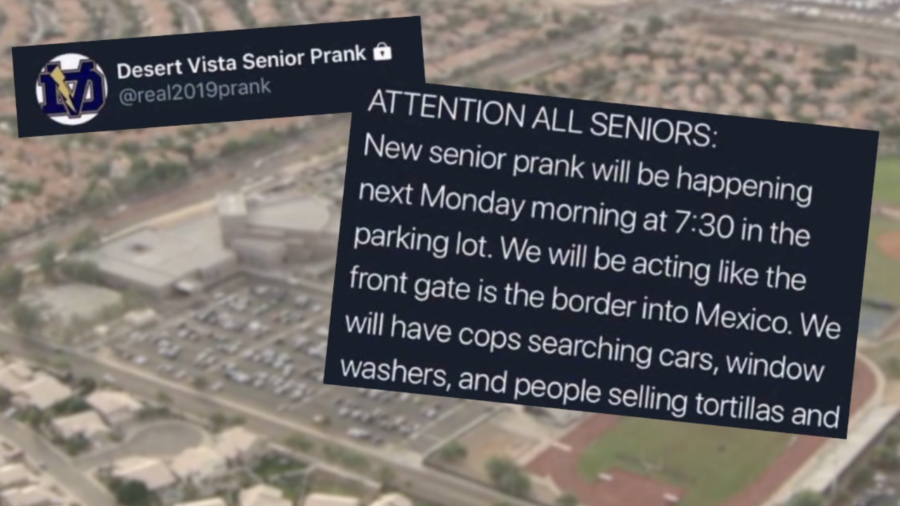 Desert Vista High School Prank