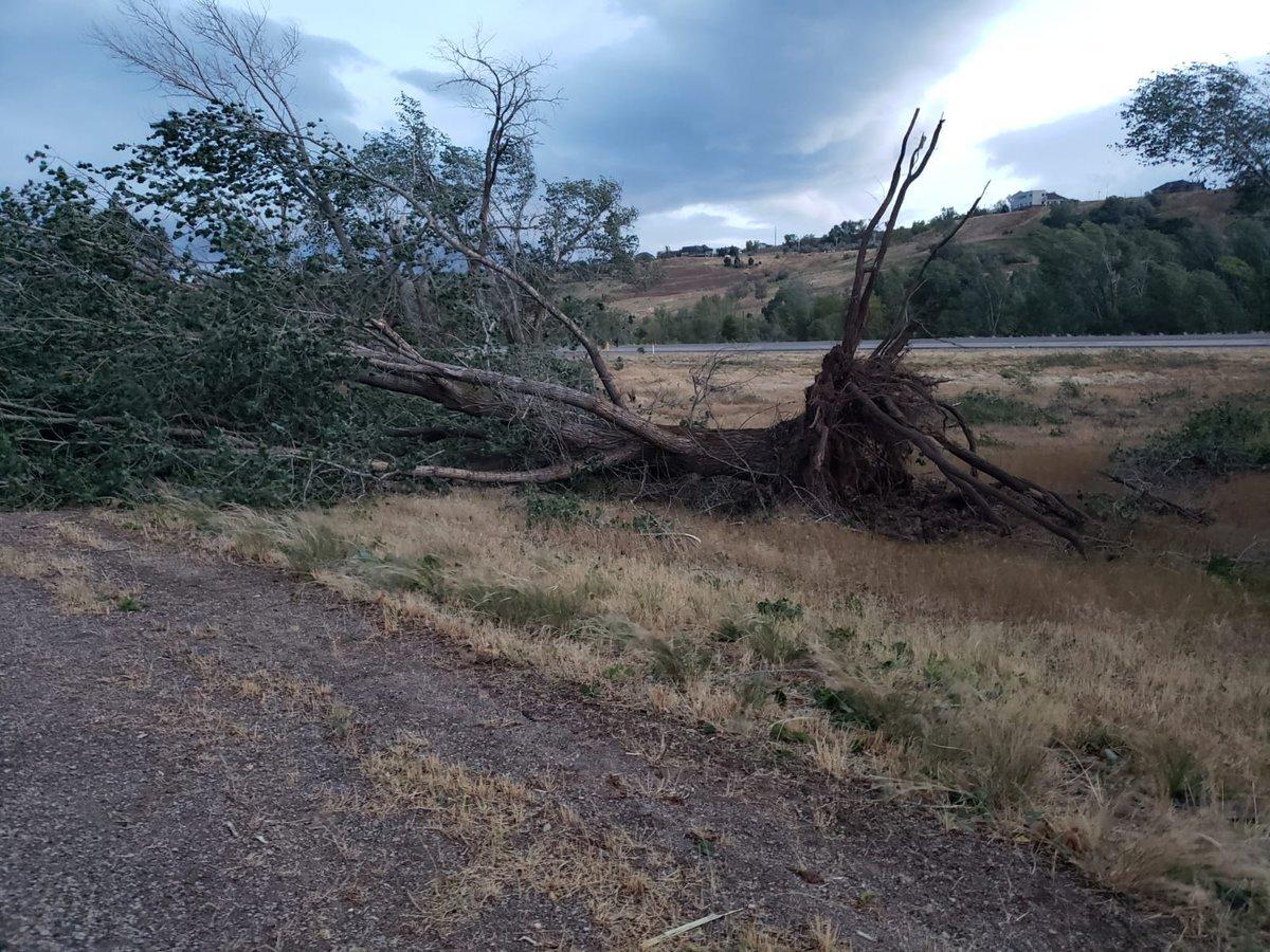 Weber Co. damage along I-84