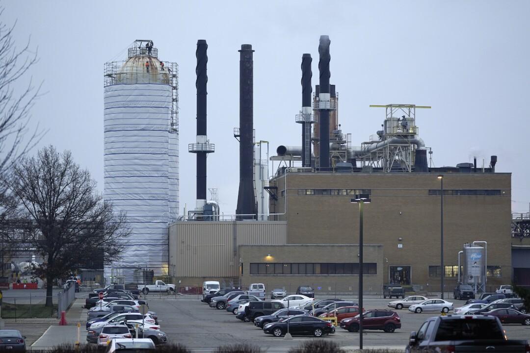 Pfizer Portage plant COVID-19 vaccine December 11, 2020