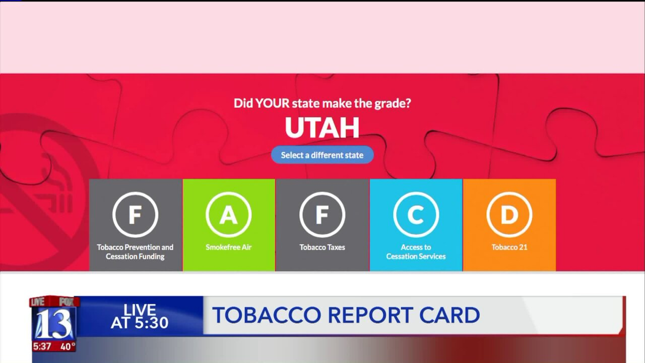 Utah's horrible grade on tobacco policy is less horrible than most states