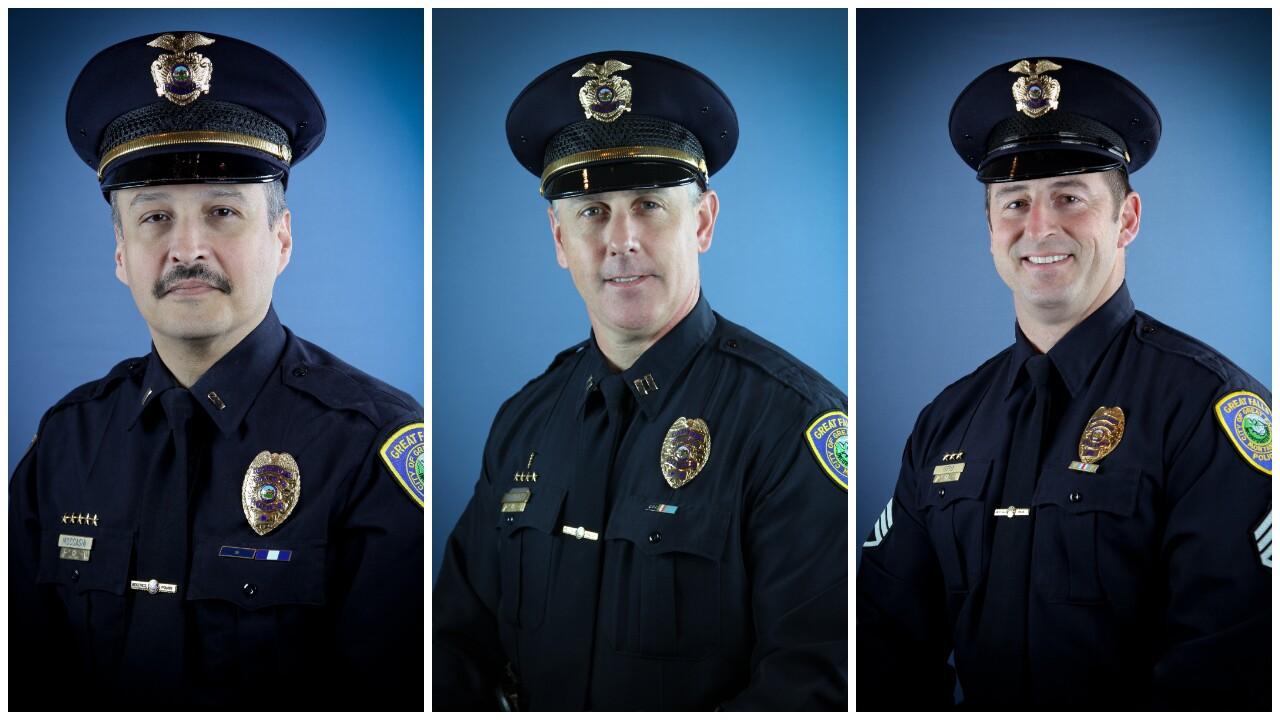 Captain Rob Moccasin, Captain Jeff Newton, and Lieutenant Doug Otto