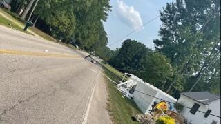 York County 1100 Old Hampton Highway crash (July 29).jpg