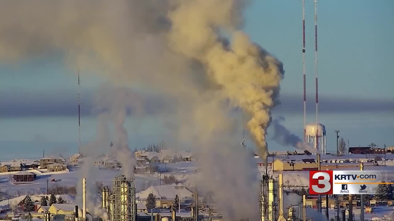 Strange plumes of smoke coming from the refinery