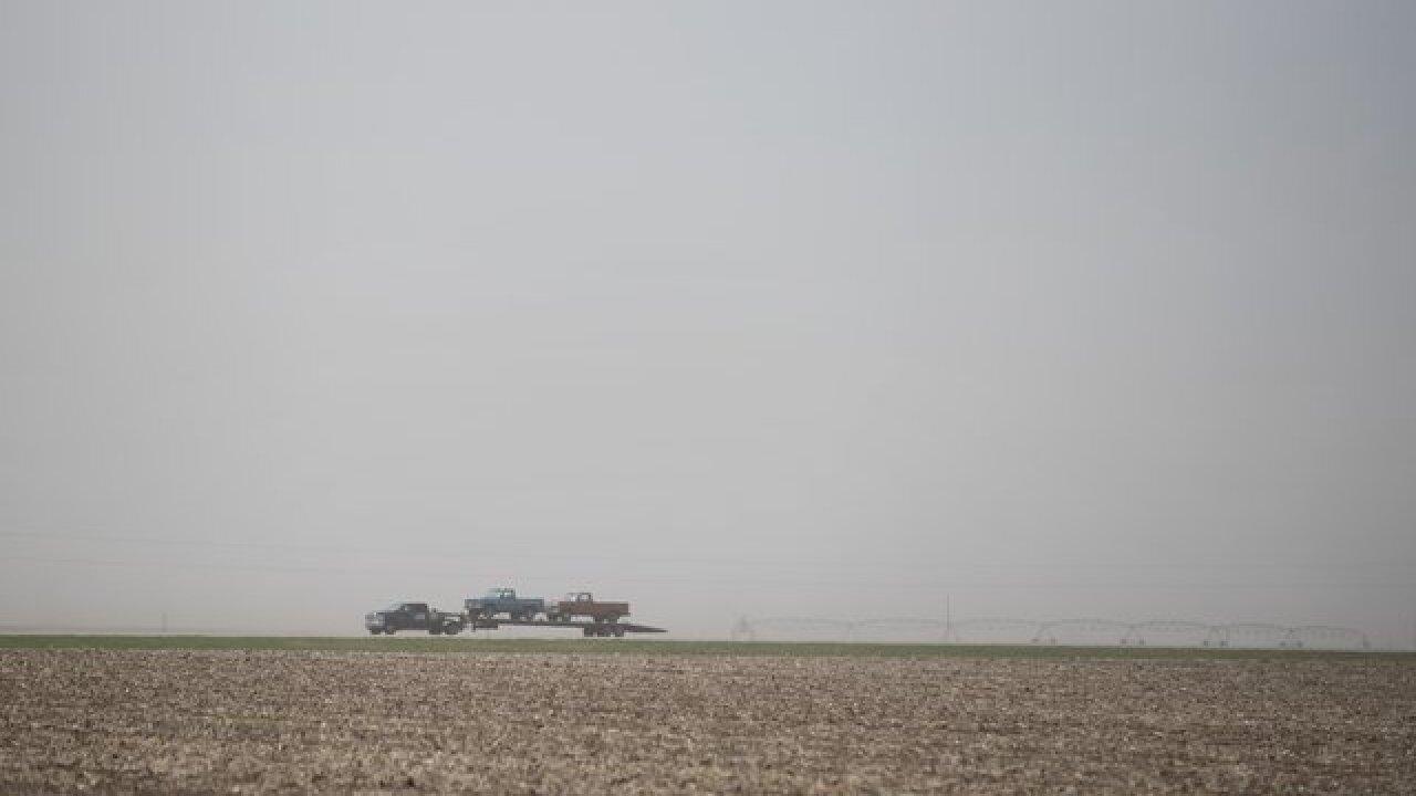 Blowing dust leads to pile-up in Nebraska