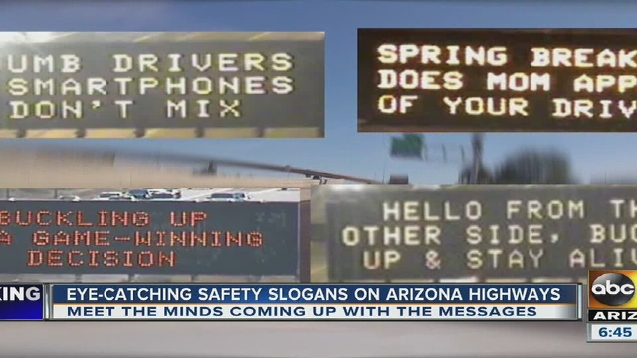 How does ADOT come up with those creative billboards?