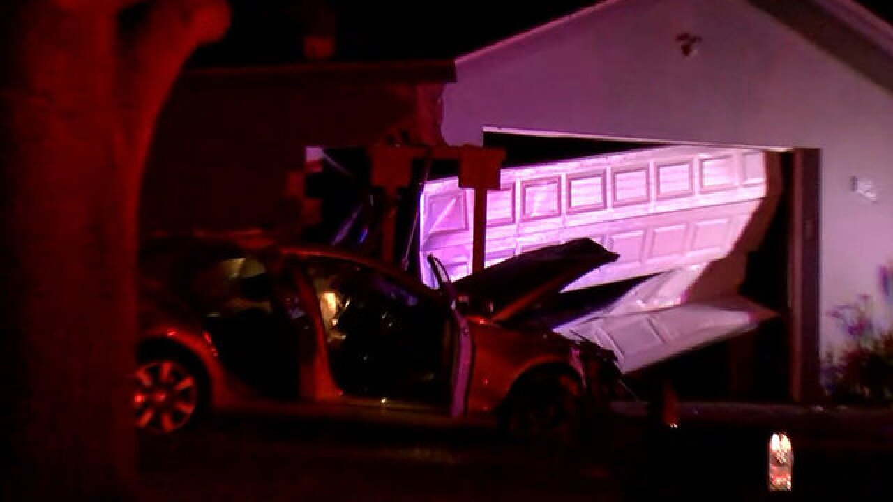 Car crashes into house in Clearwater