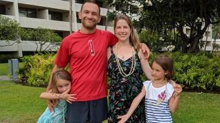 Dan Frank and his family