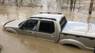 Two rescued from car trapped in 'fast moving and rising' Little Miami River