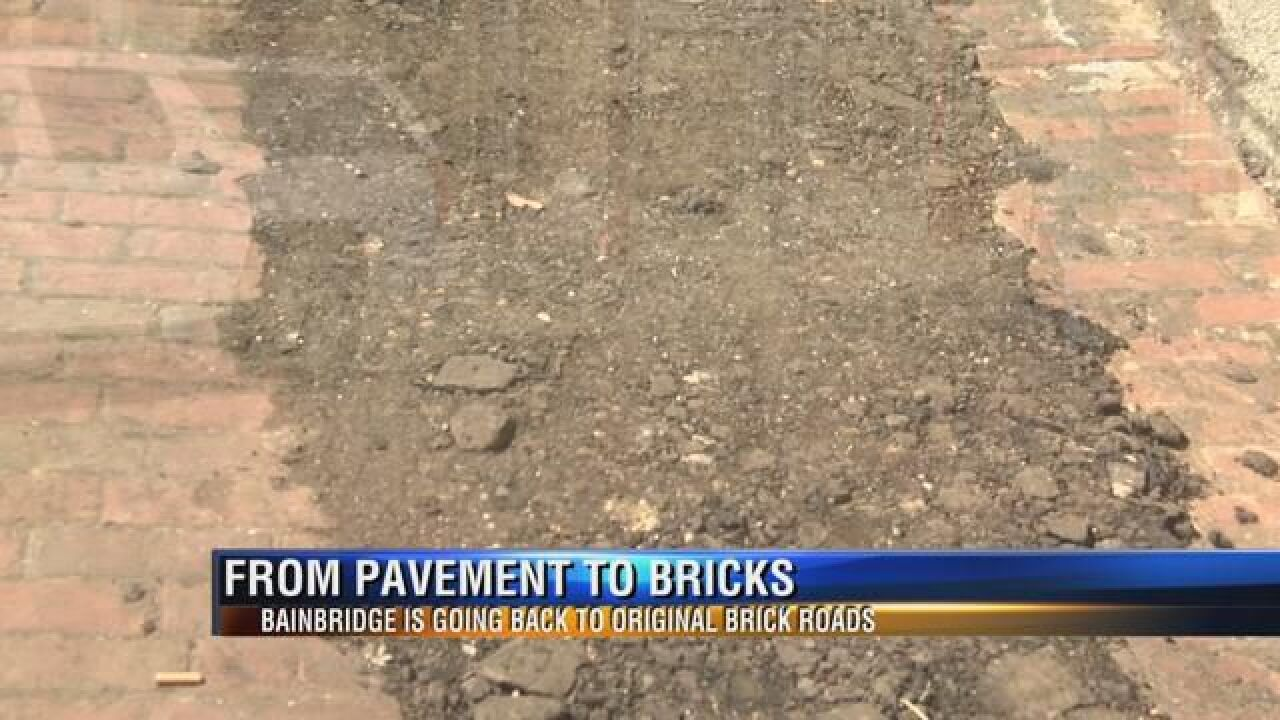 City of Bainbridge Switches from Pavements to Orginal Brick Roads