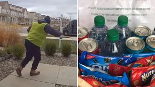 Unexpected gift for delivery driver leads to viral video