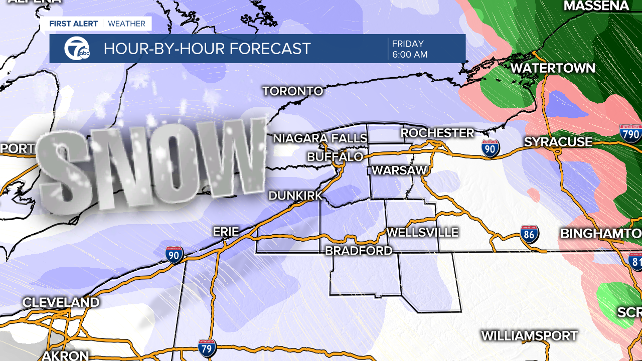 Snowiest Christmas Ever Lake Snow To Blast Buffalo On Friday Weather Alerts Issued For Parts Of Wny