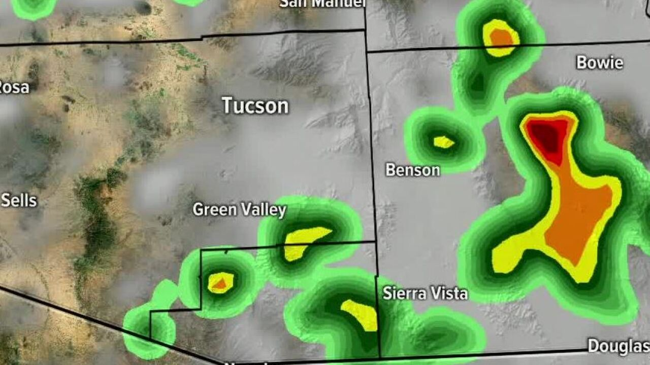 Monsoon activity is expected Thursday.