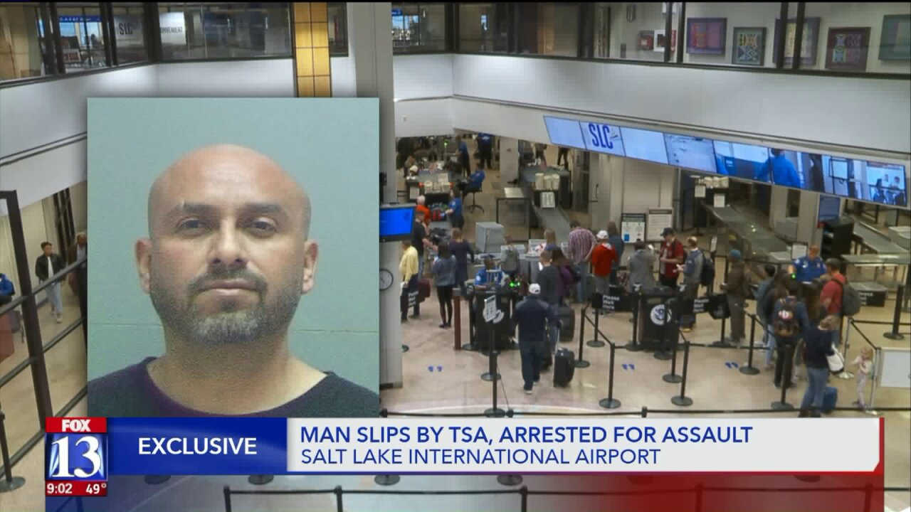 Victim says he was assaulted by man who slipped past security at SLC airport
