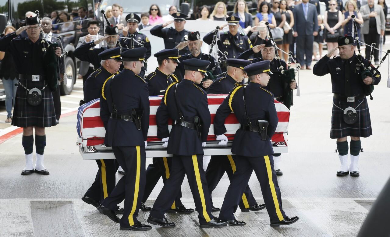 Police Shootings Dallas Funeral