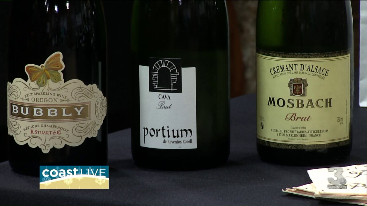 Expert ideas for the wine and champagne at your holiday party on CoastLive