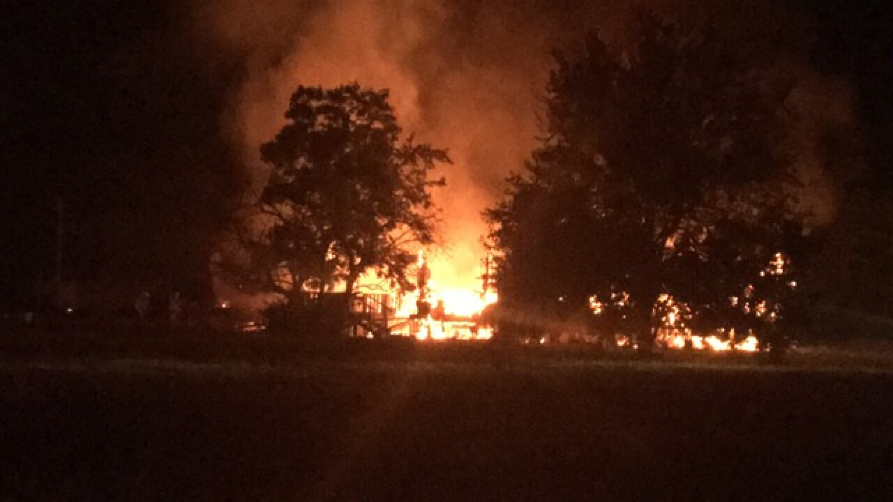 Sperry home destroyed in fire