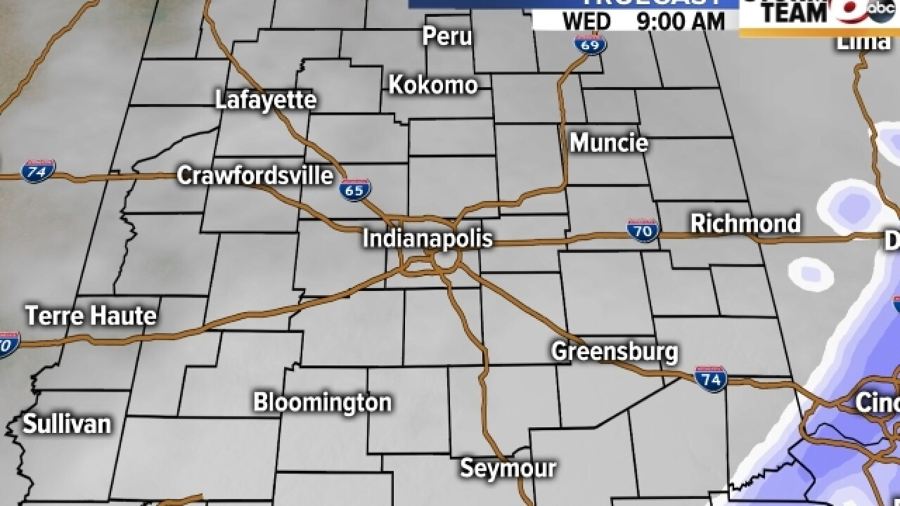 TIMELINE: When to expect snow Wednesday