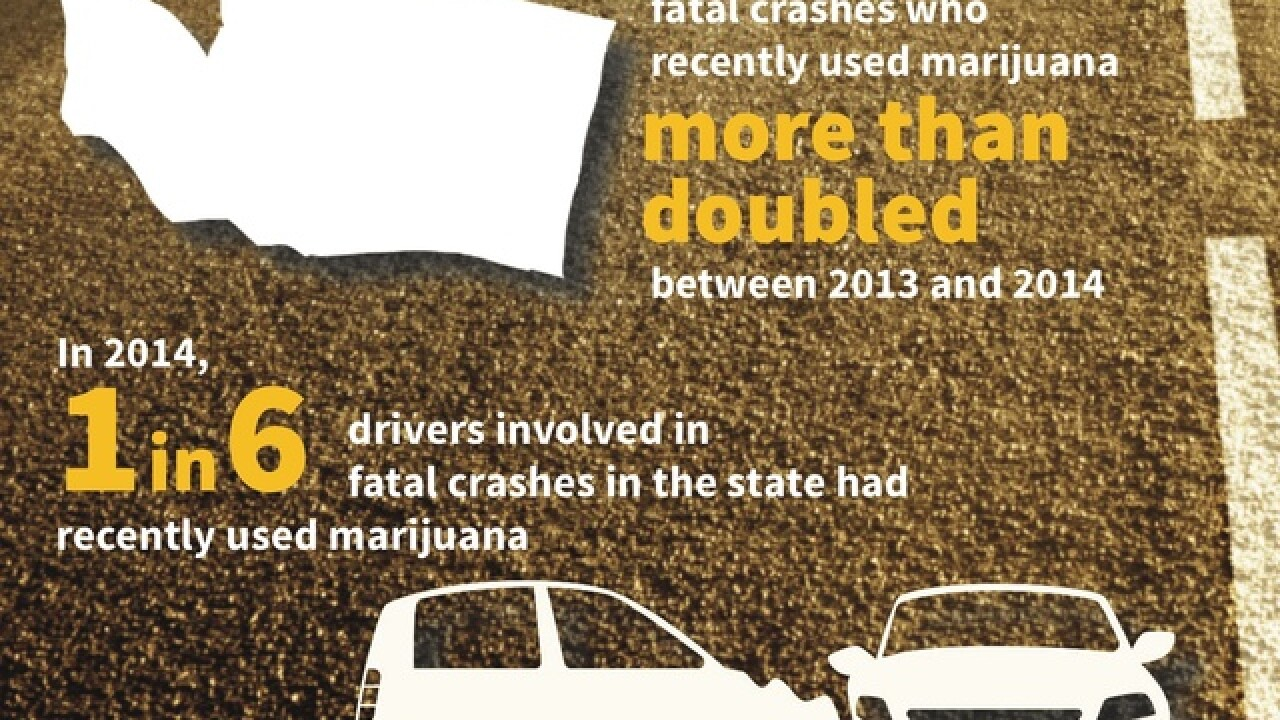 Marijuana-impaired crashes double in Washington
