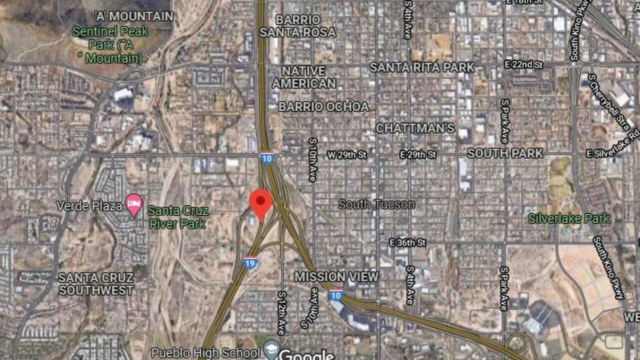 A man was shot twice on Tucson freeways this morning, authorities say.