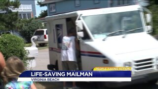 Virginia Beach mail carrier saves the day!
