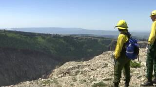 Crow rookie wildland firefighters sent to front line during first day on the job
