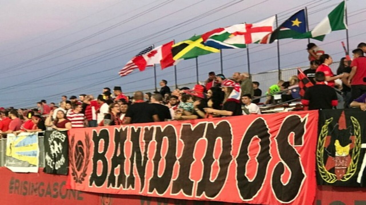 Supporters walk out after anti-Nazi banner removed from soccer game