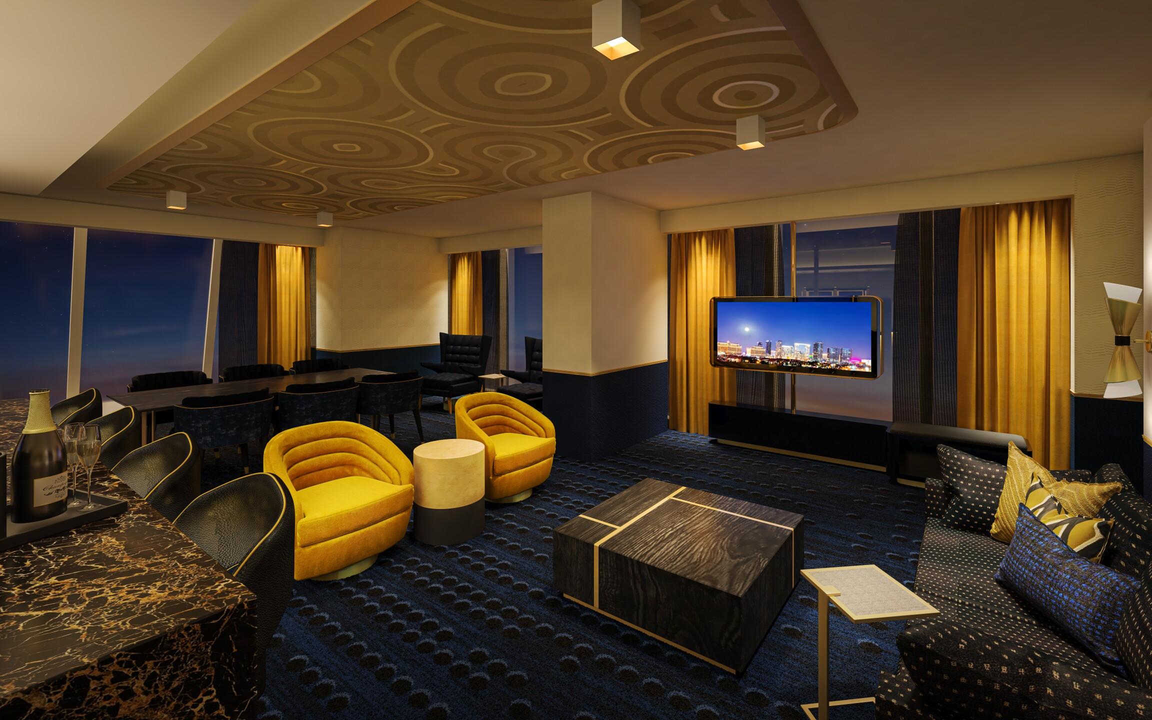 Circa - Panoramic Sunrise Suite - Entertainment Area (2).jpg