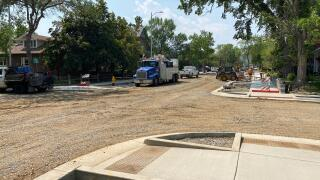 Construction is continuing to progress on Rodney Street