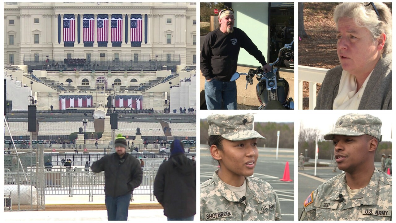 Supporters, protesters, law enforcement among Virginians at Trumpinauguration