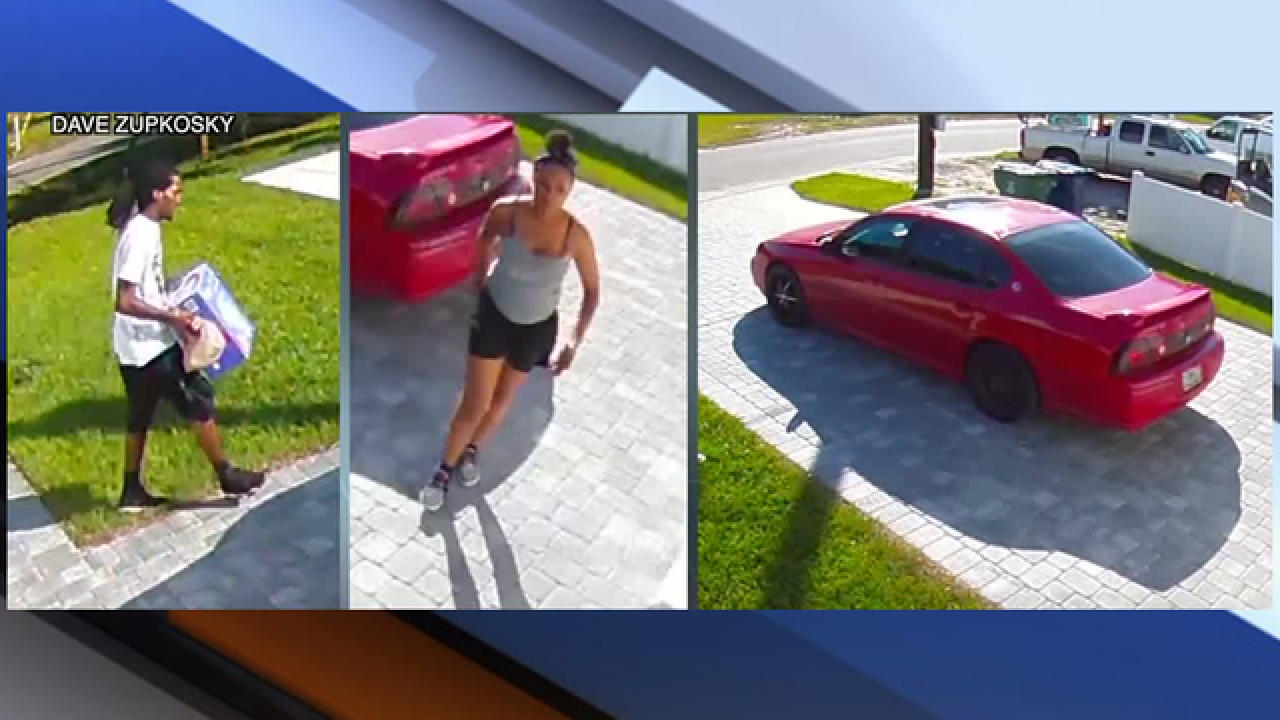 Search for porch pirates who stole diapers
