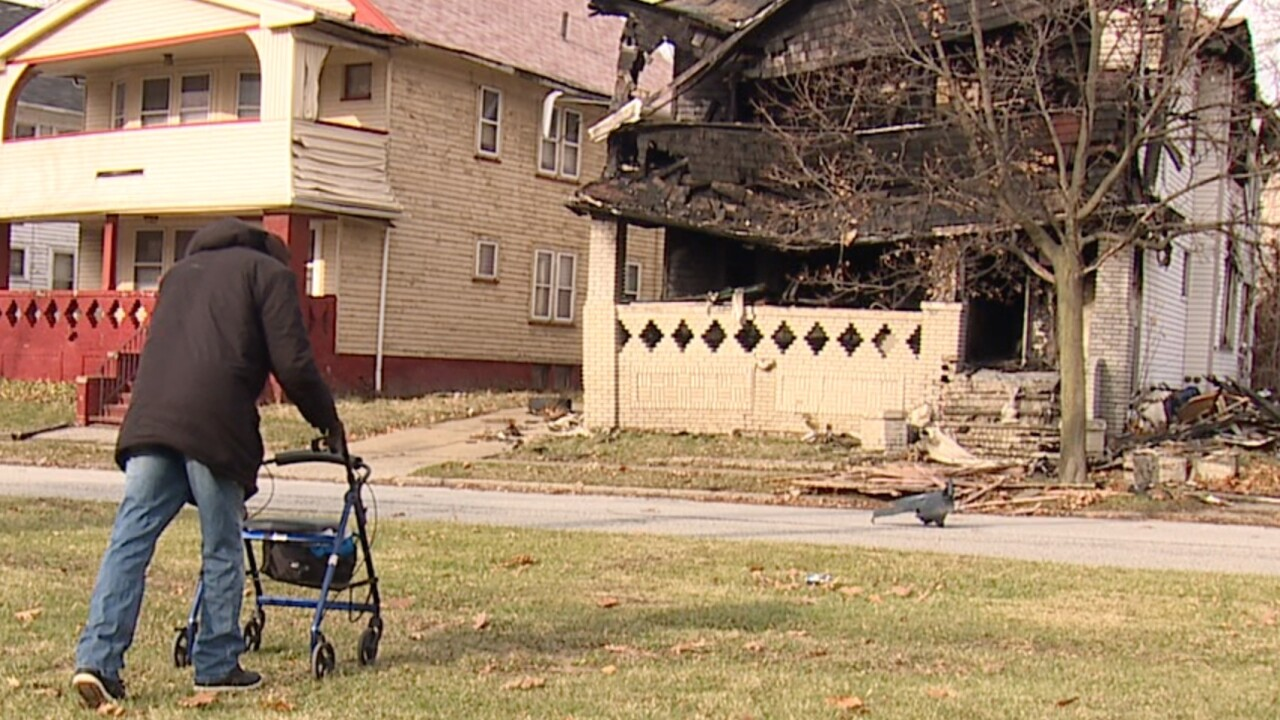 Albert PIckett says Cleveland Water is to blame for his home burning down